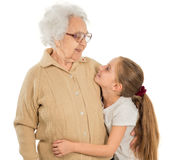 Little girl with greatgrandmother Royalty Free Stock Photo