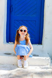 Little girl in Greece Stock Photo