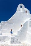 Little girl in Greece Royalty Free Stock Photos