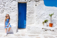 Little girl in Greece Royalty Free Stock Images