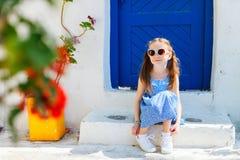 Little girl in Greece Stock Image
