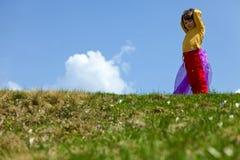 Little girl in green Stock Image