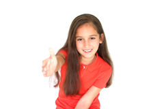 Little girl greetting Stock Photo