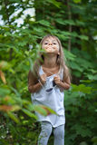 Little girl grimacing Royalty Free Stock Images