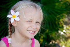Little girl grinning Royalty Free Stock Photo