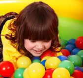 Little girl with group ball. Stock Photo