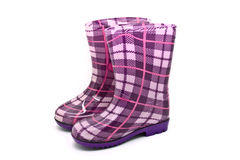 Little girl gumboots Stock Images