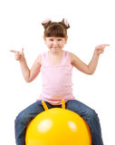 Little girl in gym Royalty Free Stock Photo