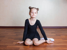 Little girl gymnast Royalty Free Stock Image