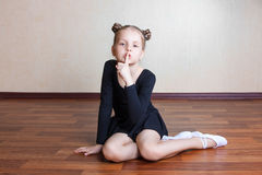 Little girl gymnast Royalty Free Stock Images