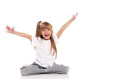 Little girl gymnastic Stock Images