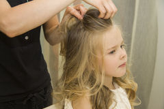 Little girl hairstyle Royalty Free Stock Photography