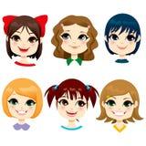 Little Girl Hairstyles vector illustration