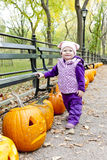 Little girl during Halloween Stock Photo