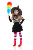 Little girl in halloween costume Stock Image