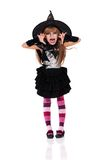Little girl in halloween costume Stock Photography