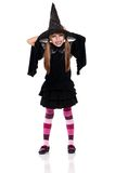Little girl in halloween costume Stock Photos