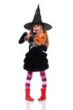 Little girl in halloween costume Royalty Free Stock Photography