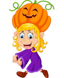 Little girl with Halloween costume Stock Photos