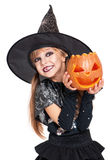 Little girl in halloween costume Stock Images