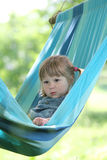 Little girl on a hammock Stock Photo