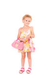 Little girl with a handbag Royalty Free Stock Image