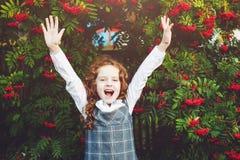 Little girl happy Back to school. Stock Photo