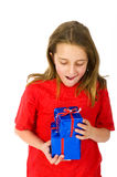 Little girl happy with christmas presents Stock Photography