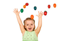 Little girl happy about easter Royalty Free Stock Images