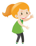 Little girl with happy face. Illustration Royalty Free Stock Images