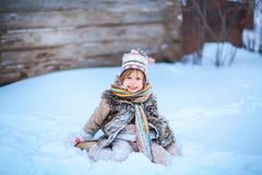 Little girl happy. Royalty Free Stock Images