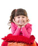 Little girl in happy morning Royalty Free Stock Photos