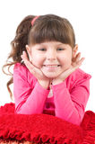 Little girl in happy morning Royalty Free Stock Images