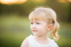 A little girl with a happy relaxed expression Royalty Free Stock Photography