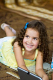 Little girl happy smile 3. Little girl happy smiling indoors Royalty Free Stock Photo