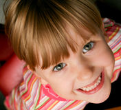 Little girl happy and smiling Stock Photo