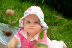 The little girl in a hat Royalty Free Stock Photography