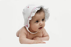 A little girl in a hat Stock Photography