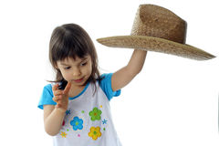 Little girl in hat Royalty Free Stock Photography