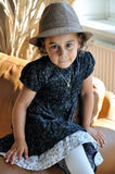 Little girl with hat Royalty Free Stock Photo