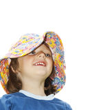 Little girl with hat Royalty Free Stock Photos