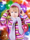 Little girl in hat Royalty Free Stock Photos