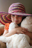 Little Girl in Hat Stock Photography