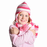 Little girl with a hat Royalty Free Stock Image