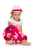 Little girl in a hat Stock Photos