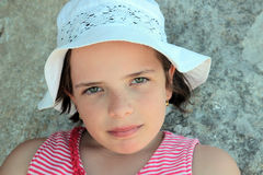 Little girl with a hat Royalty Free Stock Photography
