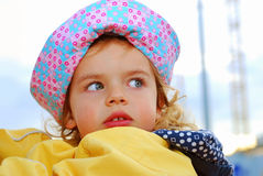 Little girl in hat Stock Images