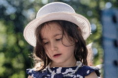 Little girl in a hat. Royalty Free Stock Photography