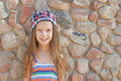 Little girl in hat Stock Image