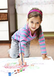 Little girl have a drawing concept Stock Image